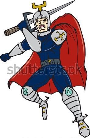 cartoon Viking super hero with sword  Stock photo © patrimonio