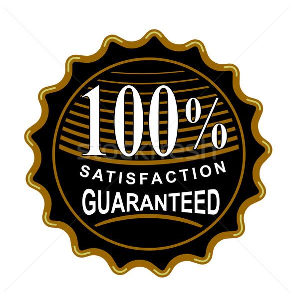 100 memnuniyet garantili siyah mühürlemek örnek Stok fotoğraf © patrimonio