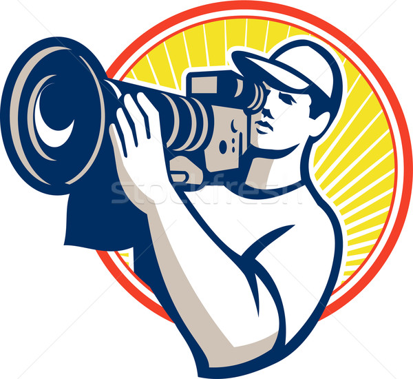 Cameraman Film Crew HD Video Camera Stock photo © patrimonio