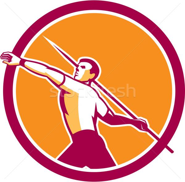 útvonal mező atléta kör illusztráció oldal Stock fotó © patrimonio