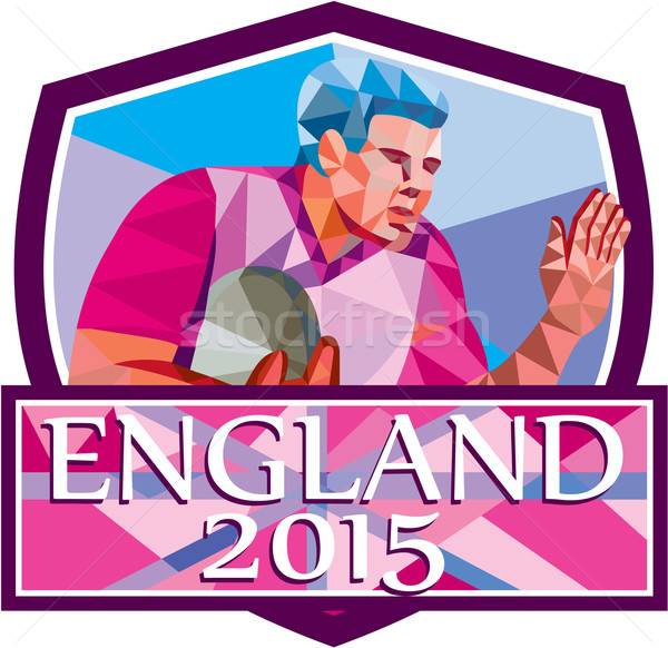 Rugby Player Fend Off England 2015 Low Polygon Stock photo © patrimonio