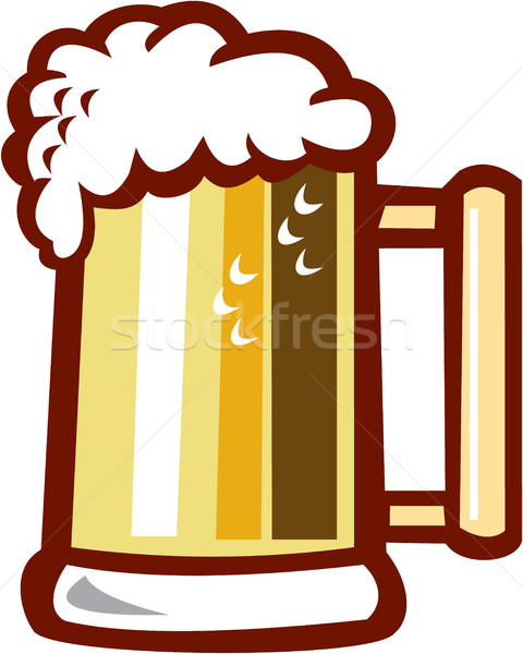 Beer Stein Isolated Retro Stock photo © patrimonio