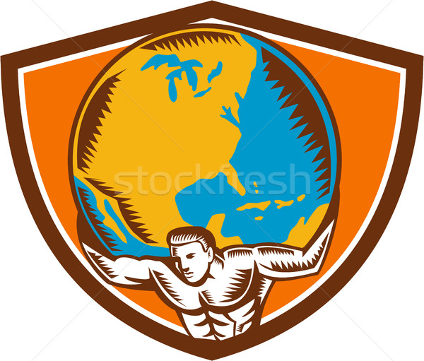 Atlas mondo cresta illustrazione Foto d'archivio © patrimonio