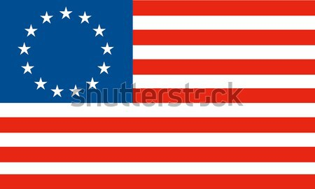 American Betsy Ross stars and stripes flag Stock photo © patrimonio