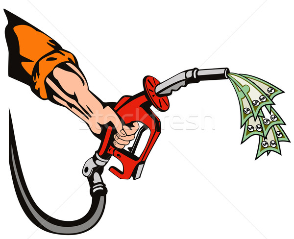 Hand Holding Gas Fuel Pump Nozzle  Stock photo © patrimonio