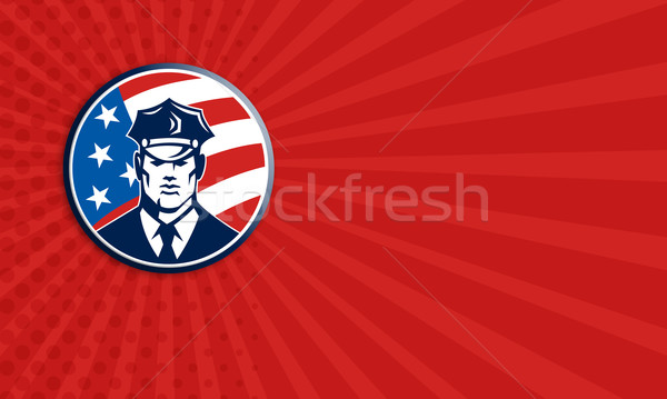 American Policeman Security Guard Retro Stock photo © patrimonio