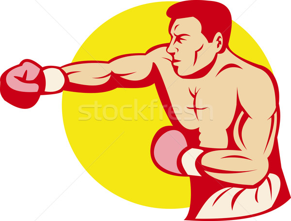 boxer or fighter punching Stock photo © patrimonio
