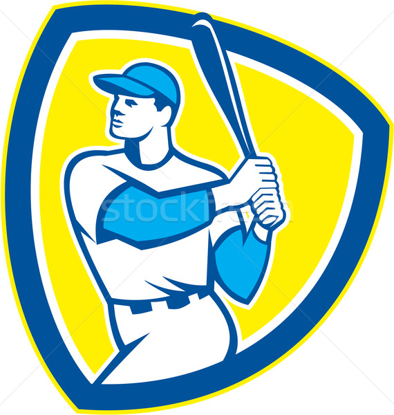 Baseball bat Schirm Retro Illustration Stock foto © patrimonio