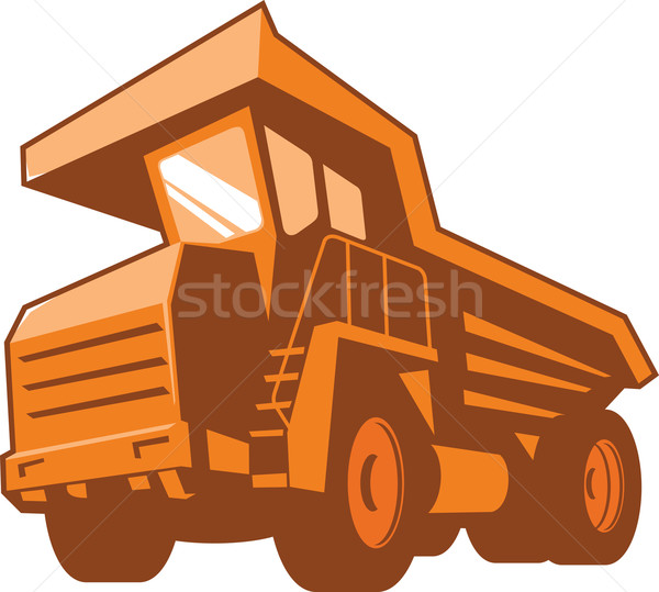 Mining Truck Low Angle Retro Stock photo © patrimonio