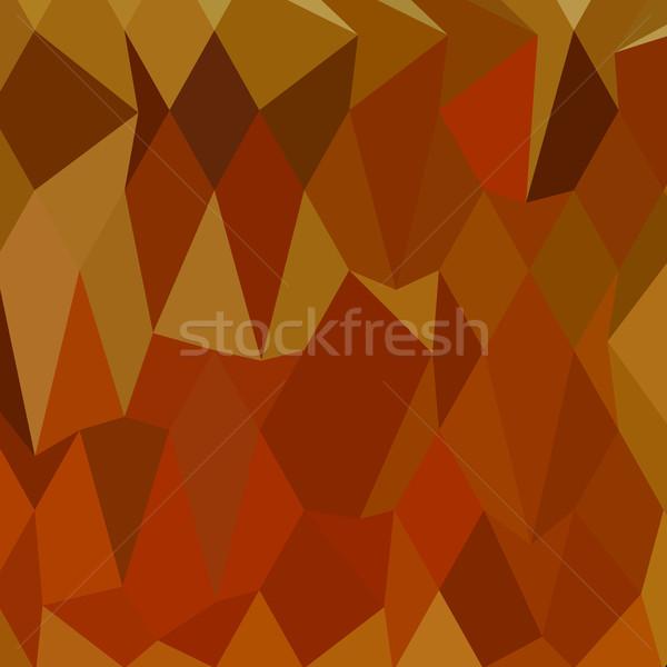 пастельный оранжевый аннотация низкий многоугольник стиль Сток-фото © patrimonio