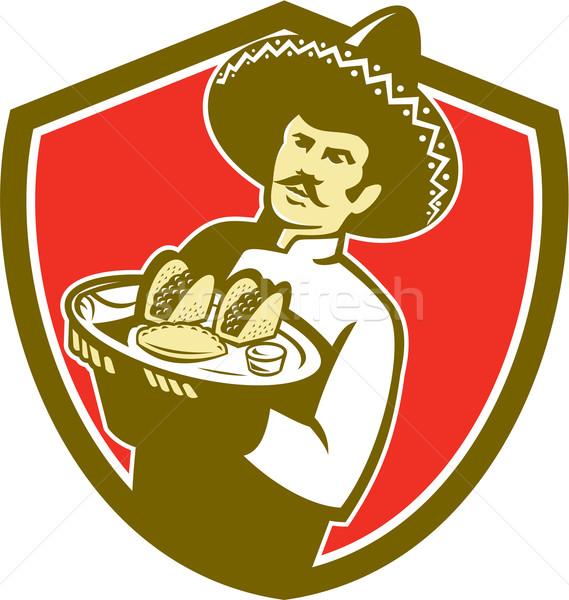 Mexicano chef cozinhar prato Foto stock © patrimonio