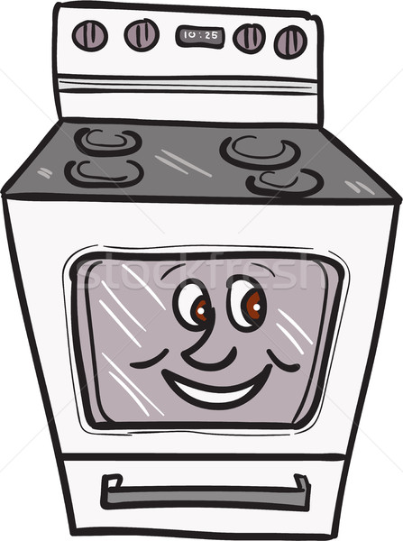Oven Smiley Face Cartoon Stock photo © patrimonio
