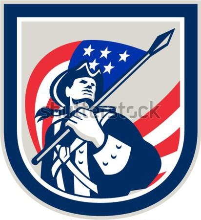 играх 2012 тяжелая атлетика ретро британский флаг иллюстрация Сток-фото © patrimonio