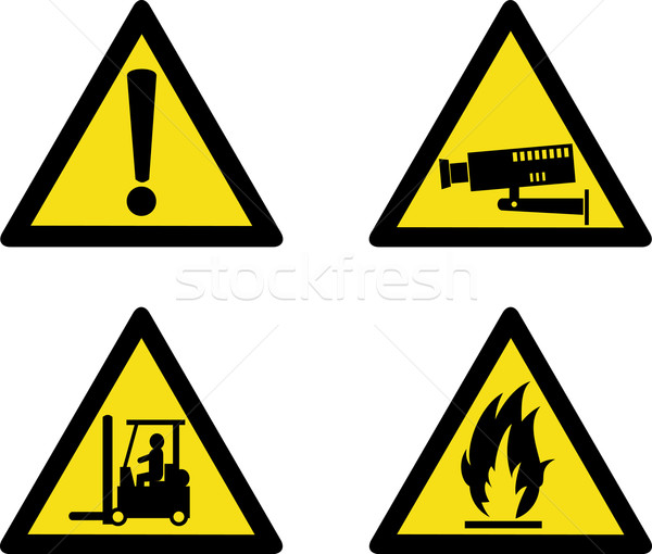 workplace sign security camera forklift flammable Stock photo © patrimonio