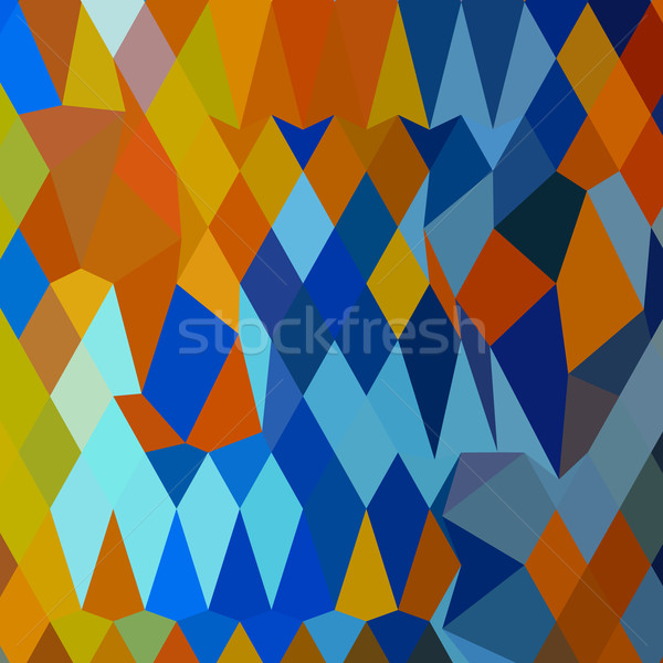 Cerulean Blue Harvest Gold Abstract Low Polygon Background Stock photo © patrimonio