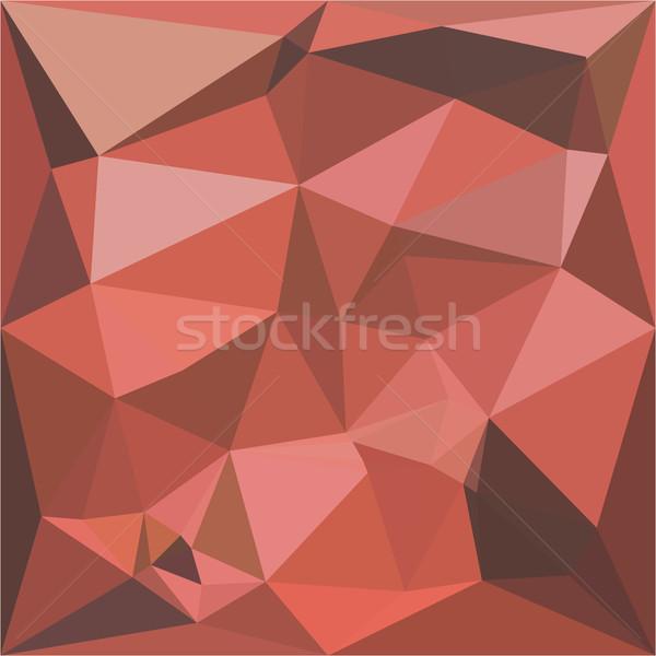 Profundo rosa abstrato baixo polígono estilo Foto stock © patrimonio