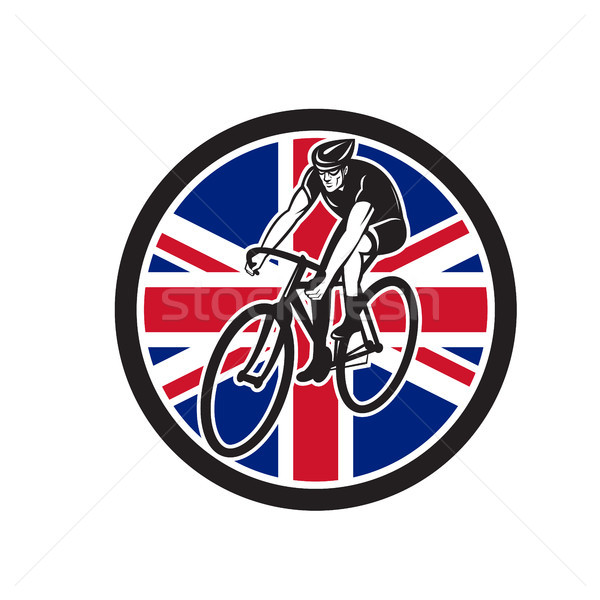 British Cyclist Cycling Union Jack Flag Icon Stock photo © patrimonio