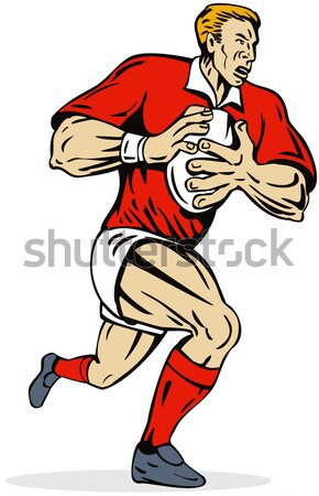 Rugby Player Throwing Lineout Ball Stock photo © patrimonio