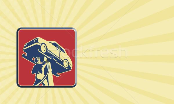 メカニック 技術者 自動車修理 レトロな 実例 ストックフォト © patrimonio