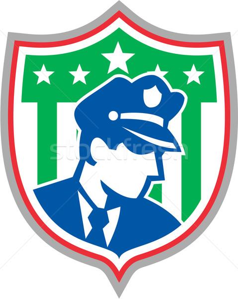 Policier bouclier illustration policier Photo stock © patrimonio