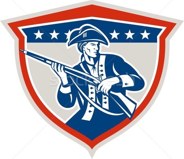 Americano patriota escudo retro Foto stock © patrimonio