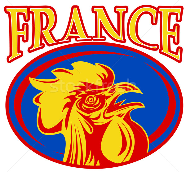rugby rooster mascot france Stock photo © patrimonio