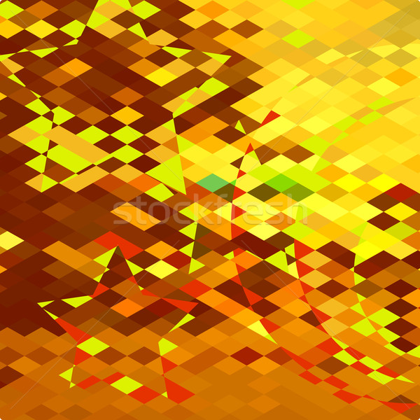Autumnal Forest Abstract Low Polygon Background Stock photo © patrimonio