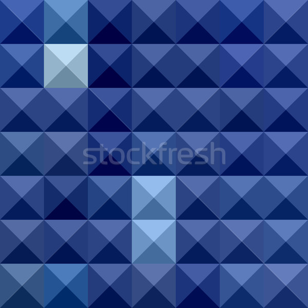Cobalt Blue Abstract Low Polygon Background Stock photo © patrimonio