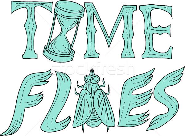 Foto d'archivio: Tempo · disegno · sketch · stile · illustrazione · parole
