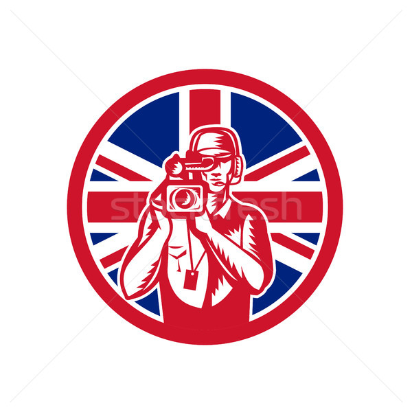 British Cameraman Union Jack Flag Icon Stock photo © patrimonio