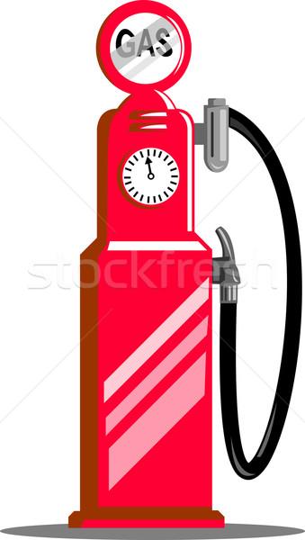 üzemanyag illusztráció klasszikus benzinpumpa fúvóka állomás Stock fotó © patrimonio