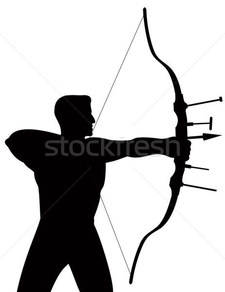 лучник съемки стрелка иллюстрация Сток-фото © patrimonio