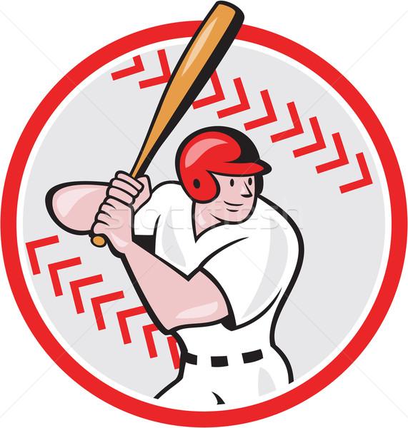 Baseball Player Batting Ball Cartoon Stock photo © patrimonio