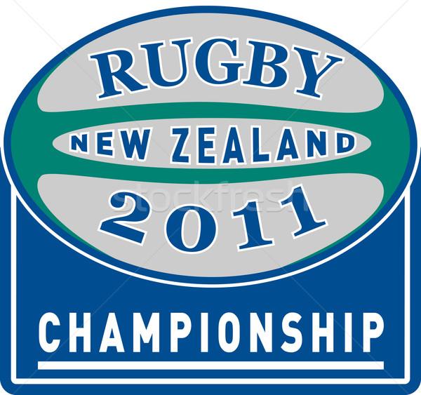 ラグビーボール 2011 ニュージーランド 選手権 カップ 実例 ストックフォト © patrimonio