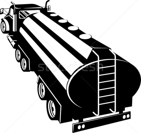 Black and white tanker rear view Stock photo © patrimonio