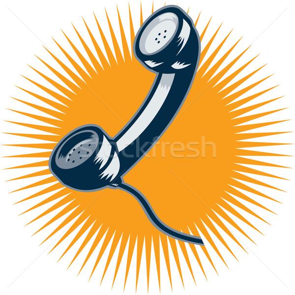 Vintage Telephone Retro Style Stock photo © patrimonio