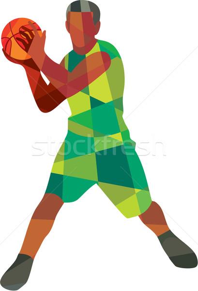Balle action faible polygone style Photo stock © patrimonio
