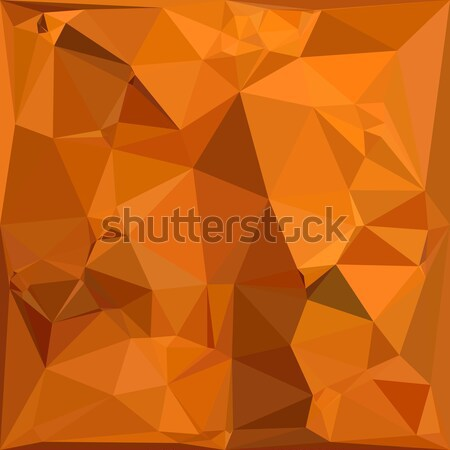 Dark Orange Carrot Abstract Low Polygon Background Stock photo © patrimonio