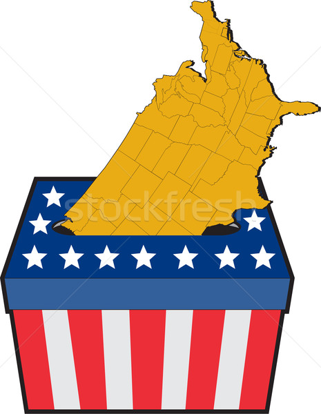 American election ballot box map of USA Stock photo © patrimonio