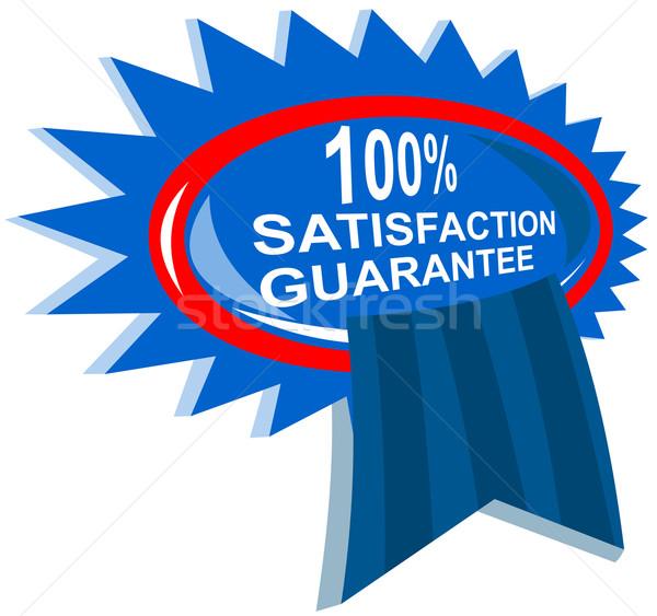 100 memnuniyet garantili örnek mavi şerit Stok fotoğraf © patrimonio