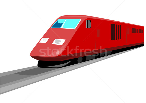Red Train Front View Stock photo © patrimonio
