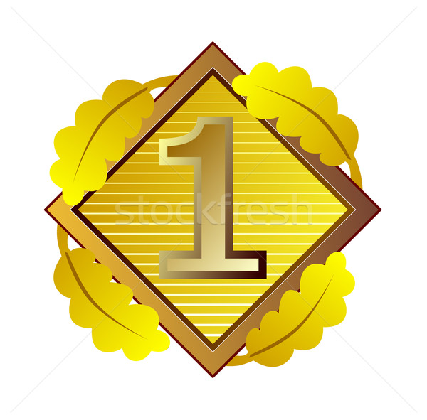 Number 1 in Diamond Stock photo © patrimonio