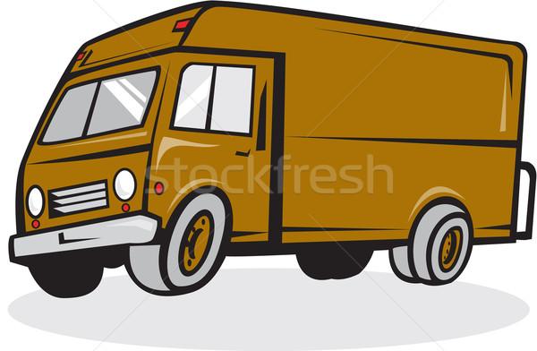 Kisteherautó oldal izolált rajz illusztráció zárva Stock fotó © patrimonio