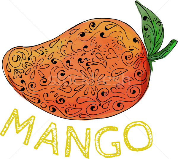 Mango Juicy Fruit Mandala  Stock photo © patrimonio