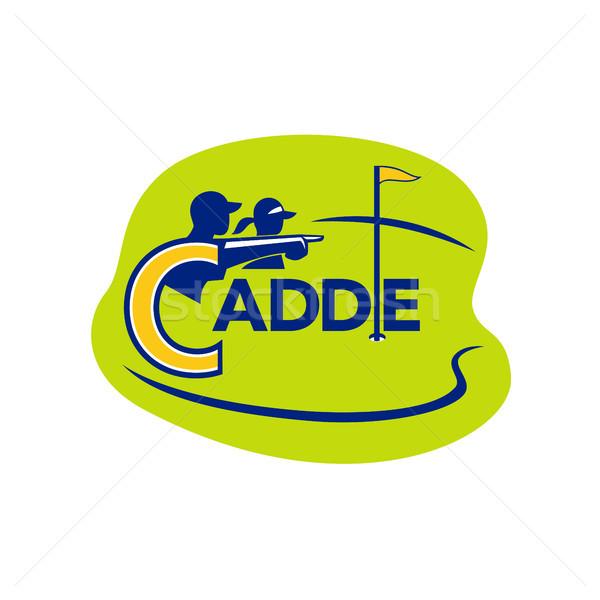 Caddie and Golfer Golf Course Icon Stock photo © patrimonio