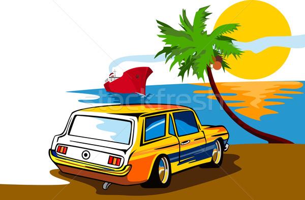 Ford mustang estación playa ilustración Foto stock © patrimonio