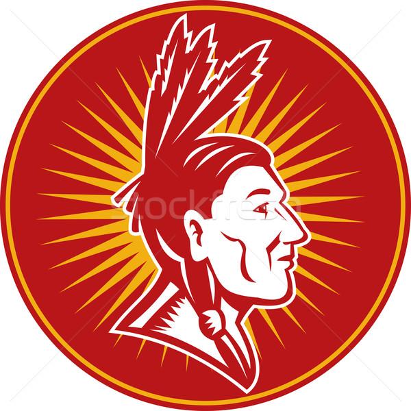 native American indian chief Stock photo © patrimonio