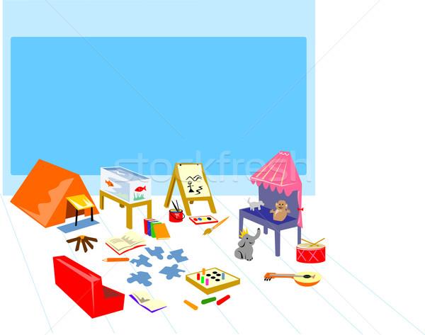Jogar camping pintura teatro ilustração Foto stock © patrimonio