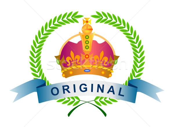 Icono original corona de oliva hojas ilustración Foto stock © patrimonio