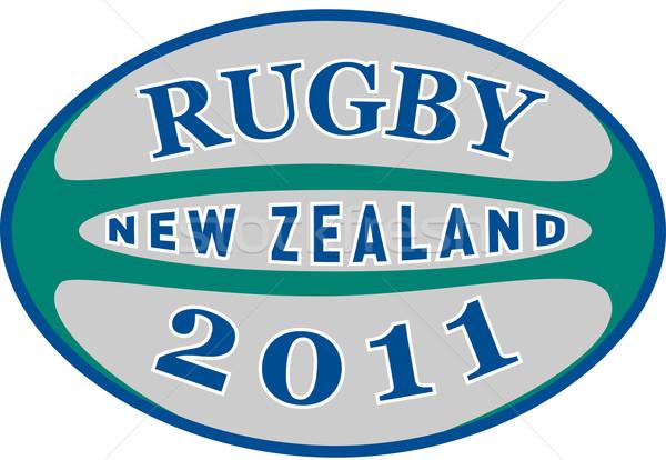 2011 Nova Zelândia ilustração palavras rugby Foto stock © patrimonio